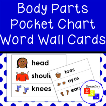 Pocket Chart Cards: Parts of the Body Vocabulary for ESL/ESOL/ELL & Speech
