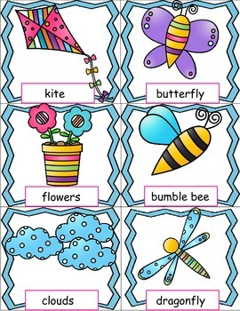 Spring Activities, Pocket Chart Cards and Writing Activities Pages