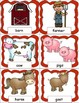 Farm Animals Pocket Chart Cards and Writing Activities for