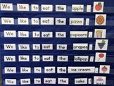 """Pocket Chart Cards for """"We Like to Eat the"""" to use alone o"""