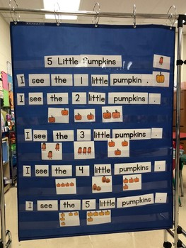 Pocket Chart Cards to use alone or with my book 5 Little Pumpkins
