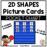 Pocket Chart Center - 2D Shapes Picture Cards Sort