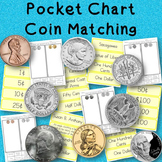 Coin Matching Math Center for Pocket Charts
