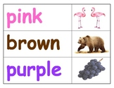 Pocket Chart: Color Word Match & Spell