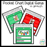 Pocket Chart Digital Activity for December in Spanish