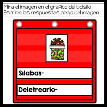 Pocket Chart Digital Activity for December in Spanish