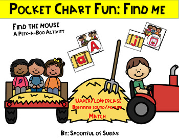 Pocket Chart Find Me Fun: ABC and Beg. Sound Match Hayride