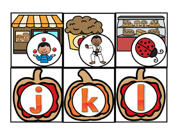 Pocket Chart Find Me Fun: ABC and Letter/Sound Match Fall Bakery