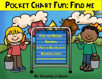 """Pocket Chart """"Find Me"""" Fun: Beginning sound"""