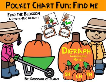 Pocket Chart Find Me Fun: Digraphs Pumpkin Farm