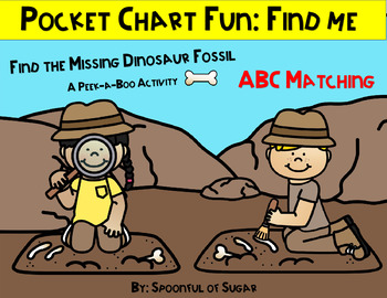 "Pocket Chart ""Find Me"" Fun: Dinosaur Bones Upper/Lowercase Match"