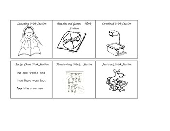 Pocket Chart Graphics to Organize Guided Reading Work Stations