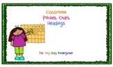 Pocket Chart Headings