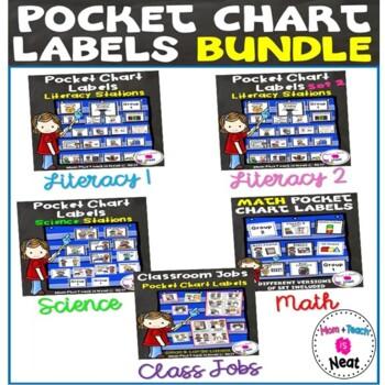 Pocket Chart Labels BUNDLE