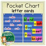 Pocket Chart Letter & Word Part Cards | Long & Short Vowel