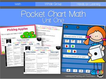 Pocket Chart Math Unit One