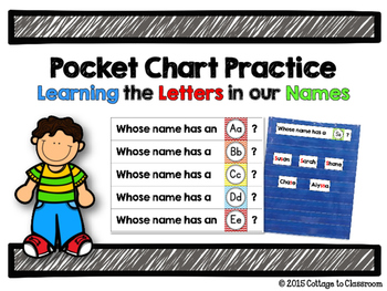 Pocket Chart Name Game