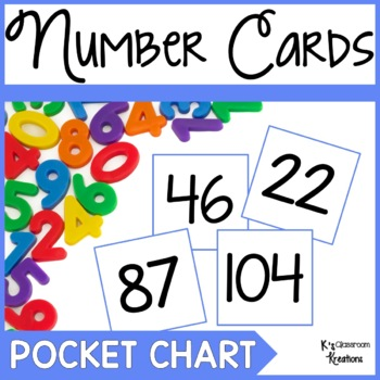 Pocket Chart Number Cards to 100