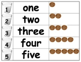 Math Pocket Chart Number Matching Cookies & Milk