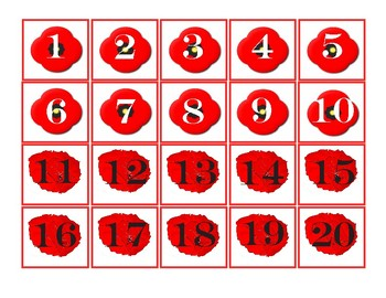 Remembrance Day/ Veterans Day Pocket Chart Numbers 1-100 -  Poppies
