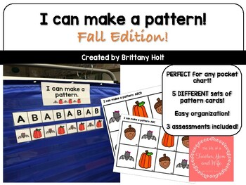 Pocket Chart Patterns- Fall Edition!