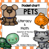 Pocket Chart Pet Unit Preschool PreK Kinder Literacy & Math Activities