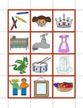 Blends and Digraphs Pocket Chart Pictures