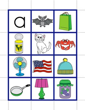 Short Vowels / Consonant-Vowel-Consonant Words - Pocket Chart Pictures