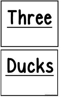 Pocket Chart Poem -Three Ducks (FREE)