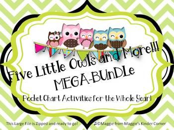 Pocket Chart Poems Mega Bundle--12 sets