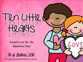 Pocket Chart Poetry - Ten Little Hearts