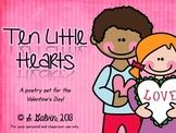 Pocket Chart Poetry - Ten Little Hearts