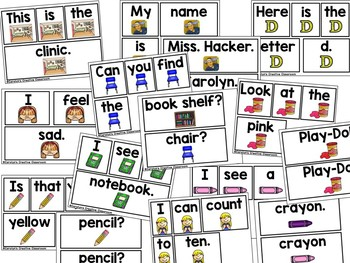 Pocket Chart Predictable Sentences - August / Back to School Version