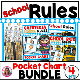 Pocket Chart Rules BUNDLE (School Rules, Cafeteria Rules,