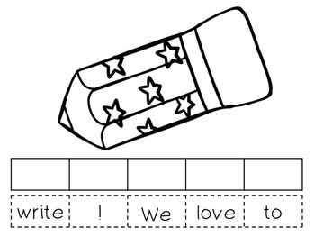 Pocket Chart Sentence Building Center{Back to School/Apple Version!}