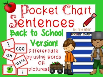 Pocket Chart Sentence Building Center{Back to School/Apple