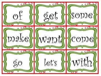 Pocket Chart Sentence Building Center {{Christmas Version}}