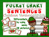 Pocket Chart Sentence Building Center {{Christmas Version}}
