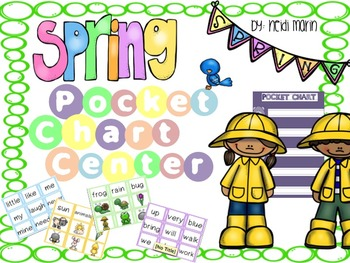 Pocket Chart Sentence Building Center {{Spring Version}}