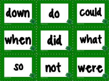Pocket Chart Sentence Building Center {{St. Patrick's Day March Version}}