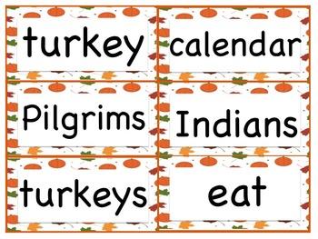 Pocket Chart Sentence Building Center {{Thanksgiving Version}}