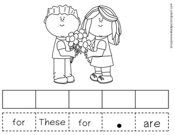 Pocket Chart Sentence Building Center {{Valentine's Day Version}}
