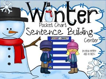 Pocket Chart Sentence Building Center {{Winter Version}}