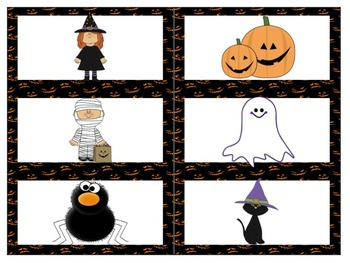 Pocket Chart Sentence Building Center {{Halloween Version}}