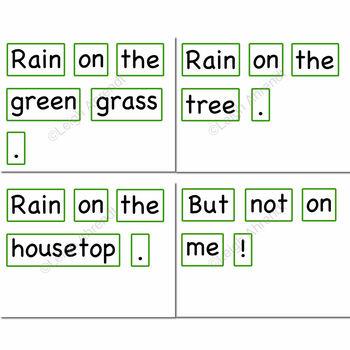 Pocket Chart Sentence Mix Up Poem - April - Rain