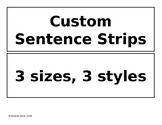 Custom Pocket Chart Printable Sentence Strips - Editable Templates