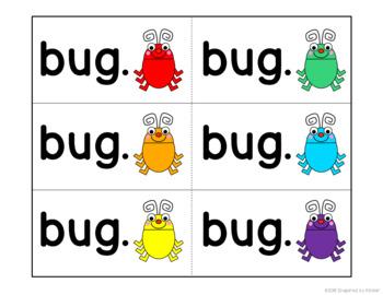 Pocket Chart Sentences (Spring Bugs)