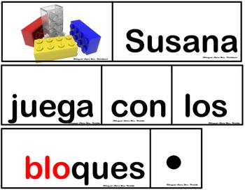Silabas Trabadas Pocket Chart Sentences Volumen1 Grupos Consonanticos Oraciones