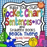 Pocket Chart Sentences With Student Books (Beach Theme)