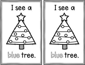 Pocket Chart Sentences With Student Books (Christmas Theme)